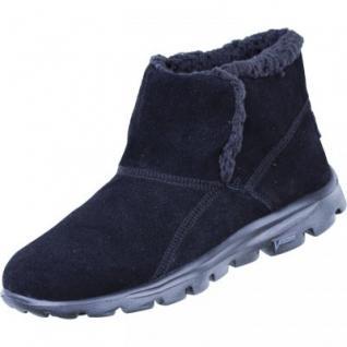 Skechers Damen Winter Velourleder Boots schwarz, 1633314/39