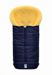 großer Baby Premium Winter Lammfell Fußsack blau waschbar, Kinderwagen, Buggy, ca. 100x44 cm