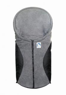 molliger Baby Winter Fleece Fußsack schwarz, für Tragschalen, Autositze, ca. 79x39 cm