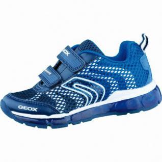 Geox J Androide modische Jungen Synthetik Sneakers navy royal, Antishock Leder Fußbett, 3336144/38