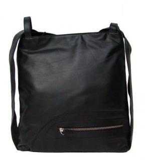 Moon 13 Eastline Leder Tasche und Rucksack schwarz, 4 Fächer, key-holder