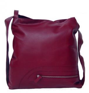 Eastline Moon 13 Damen Leder Rucksack und Tasche dunkelrot, 4 Fächer, key-holder