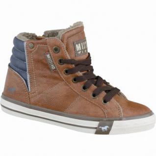 Mustang coole Jungen Leder-Imitat Winter Sneakers kastanie, molliges Warmfutter, warme Decksohle, 3737114