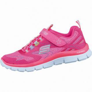 Skechers modische Mädchen Textil Sneakers neon pink multi, Skechers Memory-Foam-Gel-Infused-Fußbett, 4036156