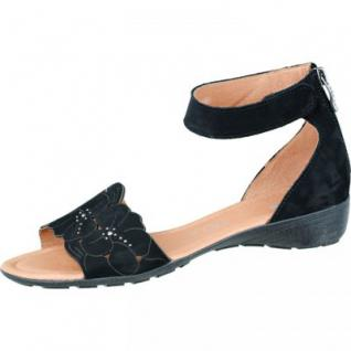 ARA Damen Leder Sandaletten schwarz, Weite G, 1534128