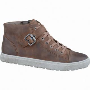 Soft Line coole Damen Fettvelour Sneakers cognac, Extra Weite H, Kaltfutter, Soft Line-Fußbett, 1337104