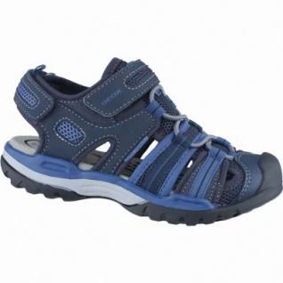 Geox sportliche Jungen Synthetik Sandalen navy, anatomisches Geox Fußbett, 3538120