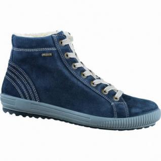 Legero Damen Leder Winter Booties blau, Weite G, 1635291/8.0