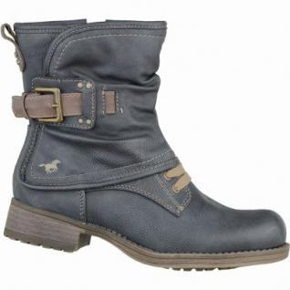 Mustang trendige Mädchen Leder-Imitat Winter Boots graphit, molliges Warmfutter, warme Decksohle, 3737117