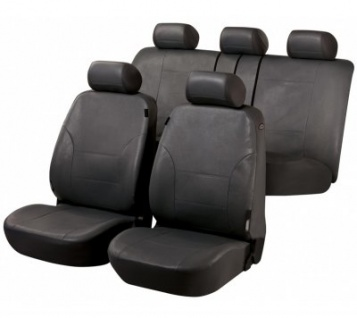 Universal Soft Kunstleder Auto Sitzbezüge anthrazit, 8-teilig, Komplett Set