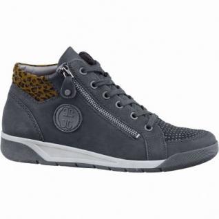 Jenny Seattle sportliche Damen Synthetik Sneakers schwarz, Weite G, Kaltfutter, Jenny Fußbett, 1337126