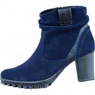 Jana Damen Leder Stiefeletten blau, Weite G, 1635253
