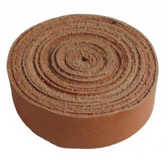 Lederband Einfassband Rindleder natur, vegetabil gegerbtes Leder, Länge 10 m, Breite 15 mm, Stärke ca. 0, 9 / 1, 1 mm