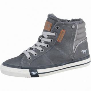 Mustang coole Jungen Leder-Imitat Winter Sneakers graphit, molliges Warmfutter, warme Decksohle, 3737113