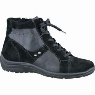 Waldläufer Hesna 14 Damen Leder Stiefel schwarz, Weite H, Warmfutter, lose Einlagen, angerautes Fußbett, 1737123