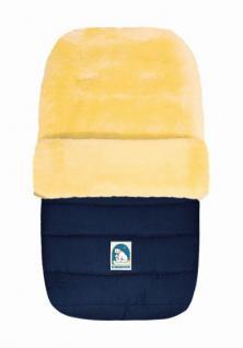 warmer Baby Winter Lammfell Fußsack blau waschbar, für Kinderwagen, Buggy, ca. 86x49 cm