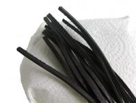10 Stück Vierkant Lederriemen Rindleder schwarz lose, Voll-Leder, Länge 100 cm, Stärke ca. 2, 8 mm, Breite ca. 3, 00 mm
