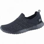 Skechers Under Wraps coole Damen Textil Sneakers black, Air-Cooled-Memory-Foam-Fußbett, 4238143