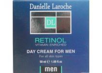 Danielle Laroche Retinol Herren Tagescreme mit Vitamin A und E, spendet Feuchtigkeit, 50 ml=358, 00 ¤/1 L