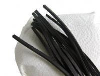 10 Stück Vierkant Lederriemen Rindleder schwarz lose, Voll-Leder, Länge 180 cm, Stärke ca. 2, 8 mm, Breite ca. 3, 00 mm