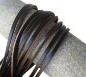 1 Paar Docksider Leder Schuhriemen dunkelbraun, Länge 120 cm, Stärke ca. 2, 8 mm, Breite ca. 3, 00 mm