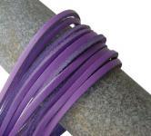 1 Paar Docksider Leder Schuhriemen flieder, Länge 120 cm, Stärke ca. 2, 8 mm, Breite ca. 3, 00 mm