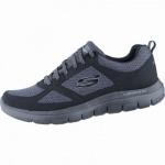 Skechers Flex Advantage 2.0 coole Herren Mesh Sneakers black, Air-Cooled-Memory-Foam-Fußbett, 4238178