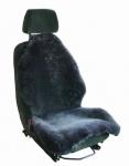 Heitmann Felle Autositzfelle anthrazit geschoren Naturtierform, waschbar, ca. 110 cm lang