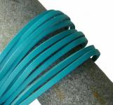 1 Paar Docksider Leder Schuhriemen türkis, Länge 120 cm, Stärke ca. 2, 8 mm, Breite ca. 3, 00 mm