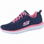 Skechers Break Free coole Damen Mesh Sneakers navy, Air-Cooled-Memory-Foam-Fußbett, 4238136