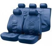 Universal Kunstleder Auto Sitzbezüge blau, 8-teilig, Komplett Set