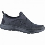 Skechers New Image coole Damen Mesh Sneakers all black, Air-Cooled-Memory-Foam-Fußbett, 4238134