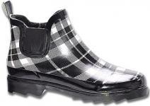 Beck Stepper modische Damen Gummi Regenstiefel schwarz-weiß, herausnehmbare Einlegesohle, 5029103