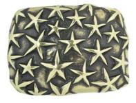 Gürtelschließe Sea the Stars gold, 8 cm lang, 6 cm hoch