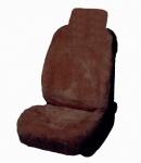 hochwertige Universal Lammfell Autositzfelle schokobraun, waschbar, Schaumstoff gefüttert, einteilig, ca. 140x58 cm