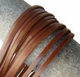 1 Paar Docksider Leder Schuhriemen mittelbraun, Länge 120 cm, Stärke ca. 2, 8 mm, Breite ca. 3, 00 mm