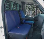Universal Polyester Sitzbezüge Transporter blau, waschbar, 1 Vordersitzbezug, 1 einteiliger Doppelbanksitzbezug