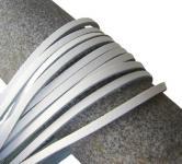 1 Paar Docksider Leder Schuhriemen weiß, Länge 120 cm, Stärke ca. 2, 8 mm, Breite ca. 3, 00 mm