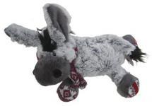 süßes superweiches Stofftier Esel mit Schal aus Mikrofaser, voll waschbar bei 30 Grad, Länge ca. 30 cm