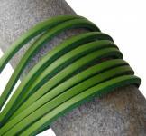 1 Paar Docksider Leder Schuhriemen hellgrün, Länge 120 cm, Stärke ca. 2, 8 mm, Breite ca. 3, 00 mm