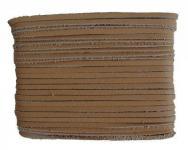 weiches Leder Flechtband Ziegenleder auf Karte hellbraun, Länge 10 m, Breite ca. 2, 5 mm, Stärke ca. 1, 0 mm