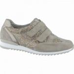 Waldläufer Hurly-Soft modische Damen Leder Sneakers cappucino, für lose Einlagen, Extra Weite H, 1338155