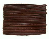 weiches Leder Flechtband Ziegenleder auf Karte dunkelbraun, Länge 10 m, Breite ca. 2, 5 mm, Stärke ca. 1, 0 mm