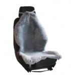 Heitmann Felle Autositzfelle silber geschoren Naturtierform, waschbar, ca. 110 cm lang