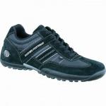 Dockers modische Herren Leder Sneakers schwarz grau, Velourleder, gepolstertes Dockers-Fußbett, 2136112