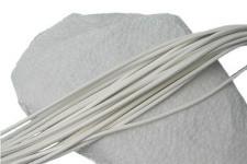 10 Stück Ziegenleder Rundriemen weiß, geschnitten, für Lederschmuck, Lederketten, Länge 100 cm, Ø 1 mm