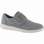 Skechers Status Borges coole Herren Washed Canvas Sneakers olive, Air-Cooled-Memory-Foam-Fußbett, 4238185