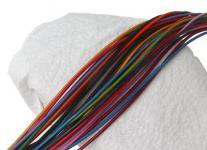 50 Stück Rindleder Rundriemen bunt gemischt, geschnitten, für Lederschmuck, Lederketten, Länge 80 cm, Ø 2 mm