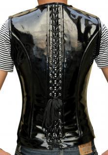 Herren Korsett Weste PVC Lack Black - Vorschau 3