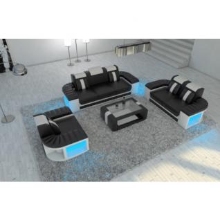 Design Sofagarnitur BELLAGIO 3-2-1 LED